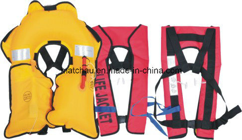 Auto and Manual Single Air Chamber 150 Newtons Inflation Life Jacket