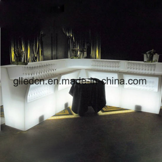 Glowing Plastic LED Bar Restaurant Counters for Sale