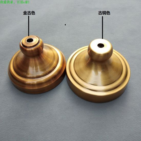 Custom Desk Lamp Metal Base in Gold Electroplating for Lighting Accessories pictures & photos