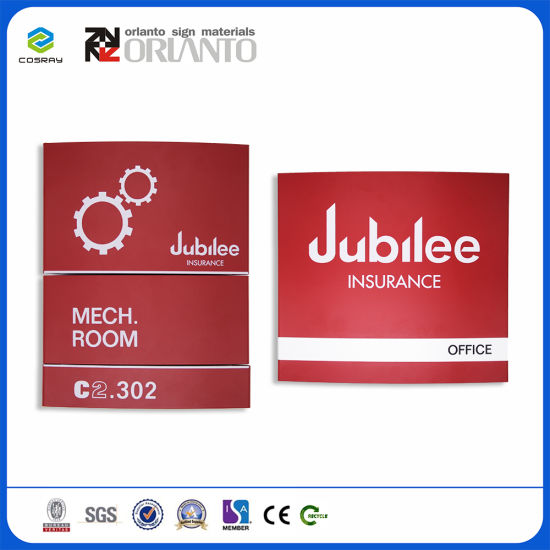 Aluminium Curved Way Finding Wall Mounted Signage pictures & photos