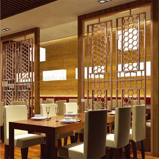 China Restaurant Divider Screen Stainless Steel Room Divider Screen