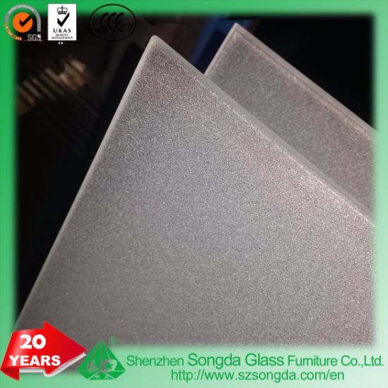 6mm Clear Glass with Sandblast Craft Tempered for Home Decoration LED Mirror