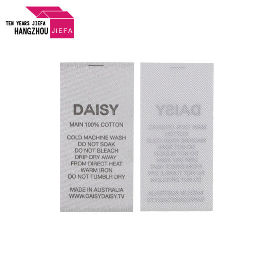Customized Ribbon Care Label in Good Price
