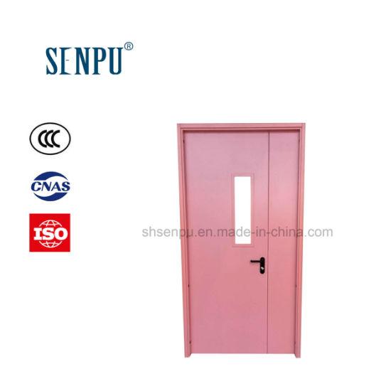 Hospital Use Antibacterial Clean Door with Vision Panel Steel Door