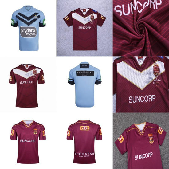detailed pictures 38f1b a1bad Classical Maroons Johnathan Thurston Farewell Nsw Blues PRO Rugby Jerseys