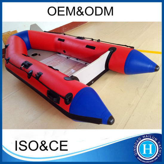Semi-Rigid Inflatable Rescue Motor/ Aluminum Foldable Deck Rubber Boat