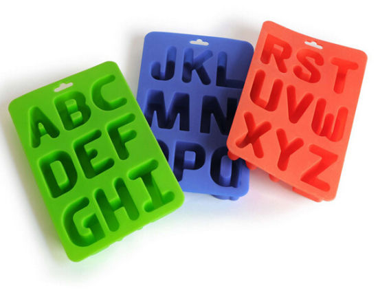 Fashioon Creative Various Letters Shap Silicone Ice Trays pictures & photos
