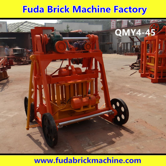 Qmy4-45 Small Mobile Concrete Block Machine with Big Wheels pictures & photos