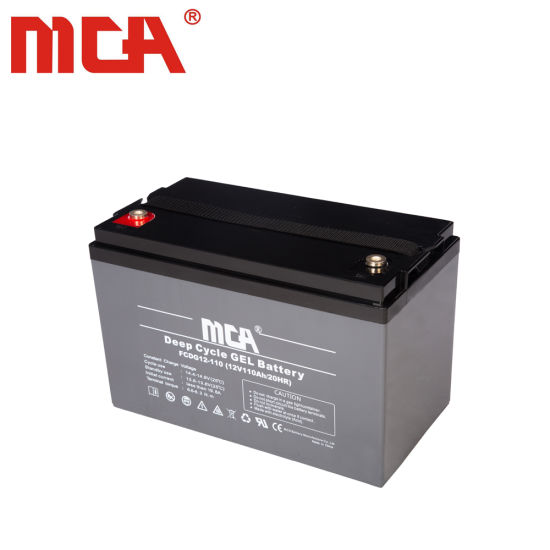Maintenance Free 12V110ah Gel Deep Cycle Battery for Solar LED Lighting pictures & photos