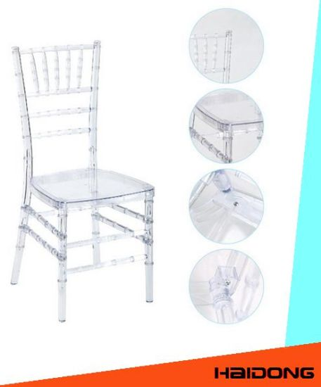 Wedding modern Hotel Stacking Transparent Lucite acrylic Chiavari Chair in Clear