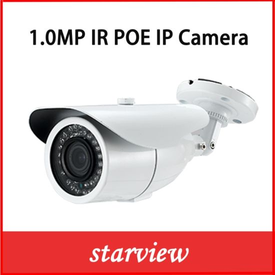 1.0MP 720p Poe Waterproof IR Bullet Network CCTV Security IP Camera pictures & photos