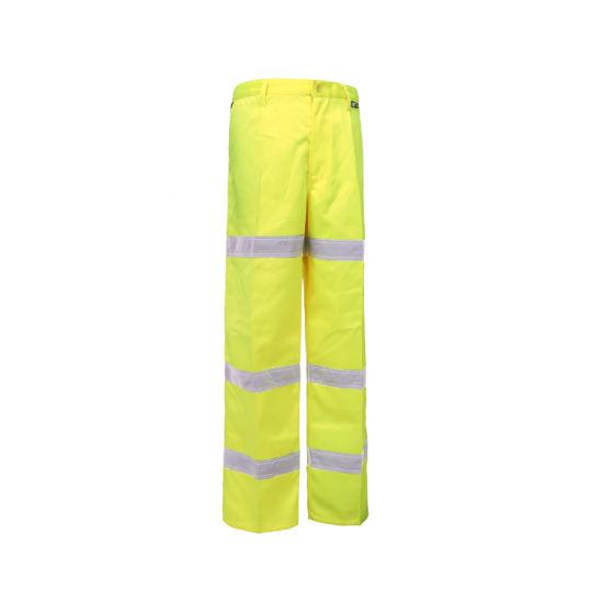 NEW UNISEX HI VIZ VIS SAFETY WORKWEAR COMBAT KNEEPAD POCKETS TROUSERS PANTS