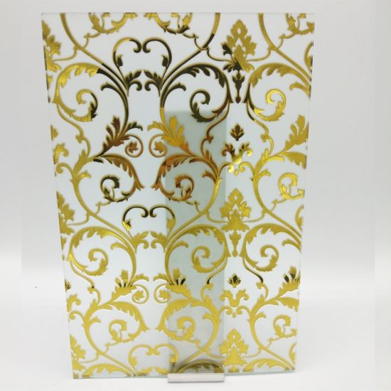 Deep Acid Etched Glass with Patterns for Home Decor Glass