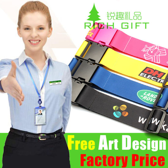 Custom Promotional Gift Nylon Lanyard with Plastic Quick Release Buckle pictures & photos