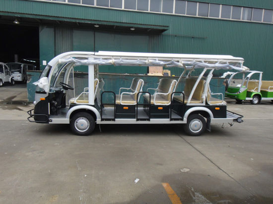 14 Seats Electric Bus, Shuttle Bus, Electri Car, Sightseeing Bus, Battery Powered Tourist Bus pictures & photos