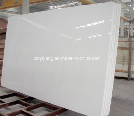 China White Artificial Marble Slab For Kictchen Bathroom Countertop - Fake marble slab