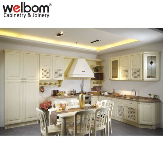 China Welbom American Style White Wood Kitchen Furniture China