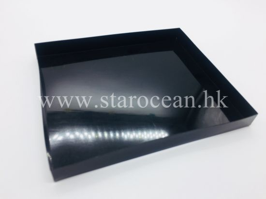 Glossy Black Plastic Packaging Tray PS Material pictures & photos