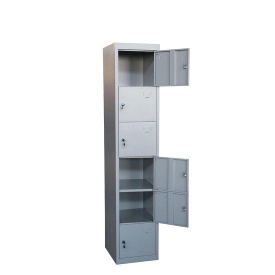Masyounger High Quality 6 Tier Door Locker For Kindergarten Storage Shoe Lockers