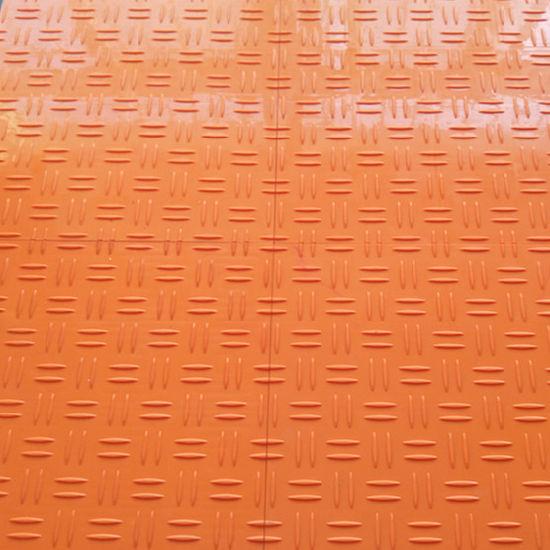 Simple Color Interlocking Plastic Flooring PVC Floor Tile for Garage