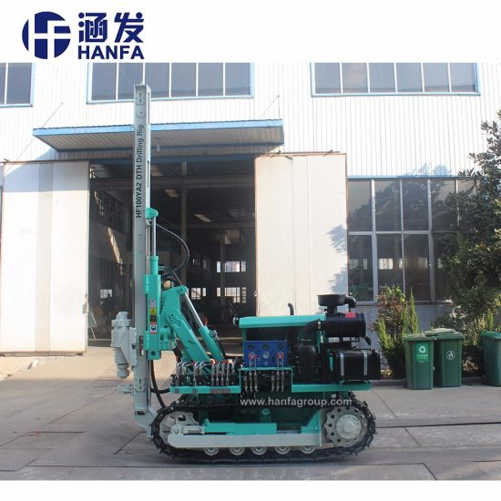 30m Small Portable Pneumatic DTH Borehole Drilling Rig (HF100YA2) pictures & photos