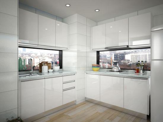 China Oppein Best Interior Design Small Hpl Kitchen Cabinets Op15