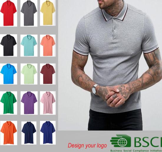 ca9d5f40 China Custom Short Sleeve Printing Plain Black Mens Polo Shirt ...