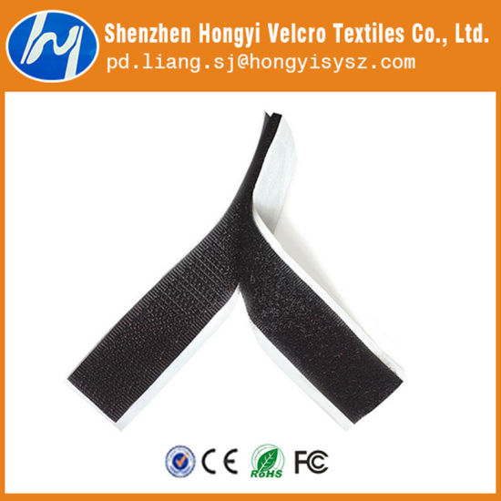 "2 Metres 2/"" BLACK STICK ON INDUSTRIAL QUALITY  HOOK /& LOOP VELCRO FASTENERS"
