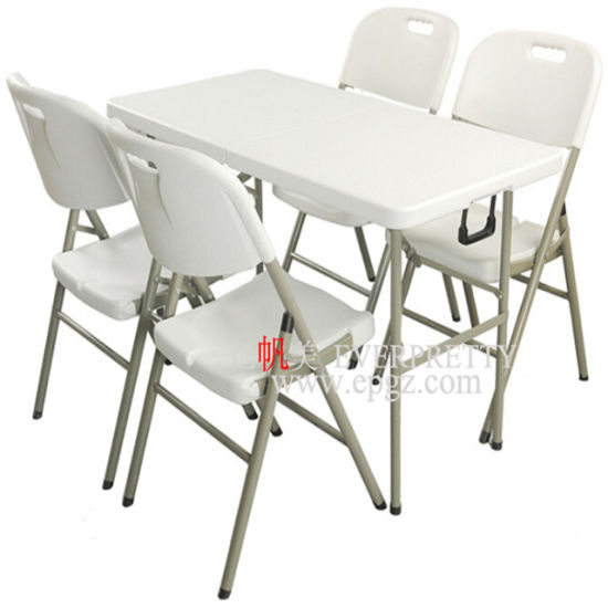 Wholesale Dining Room Furniture White Plastic Folding Tables And Chairs