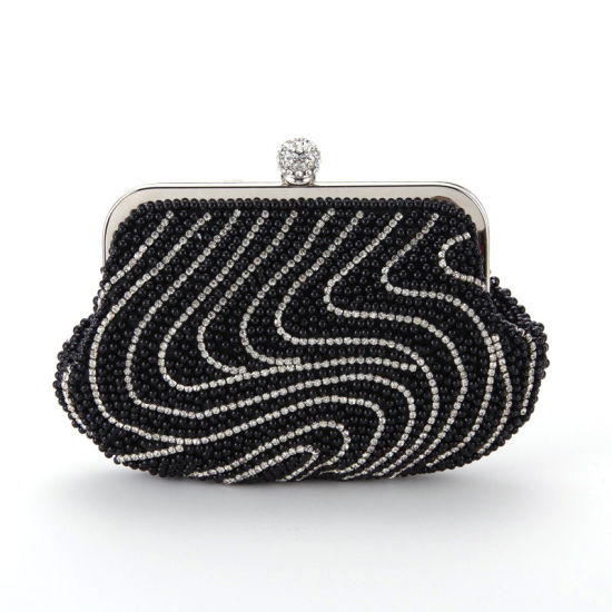 2b1d686f9a77 Fashion Shining Diamond Ring Vintage Designer Party Pearl Clutch Bag  pictures   photos