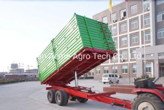 High Hurdle 3 Way Tipping Farm Tractor Trailer