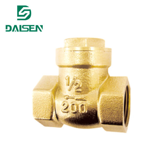 Brass (Bronze) Swimming Check Valve with Ce ISO9001 Approved H14W (X) -16t