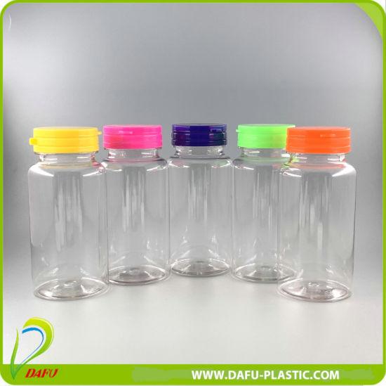 150ml Pet Clear Medicine Plastic Bottle with Plasatic Tearing Cap