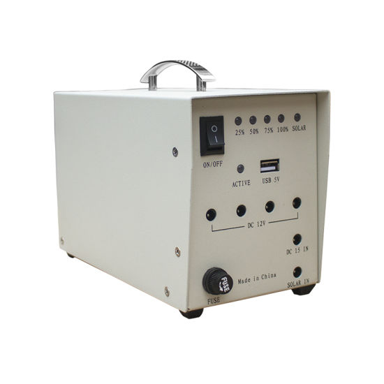10W 12V Solar Panel Solar Powered System Power Generator mit 4 LED-Licht Plug EU