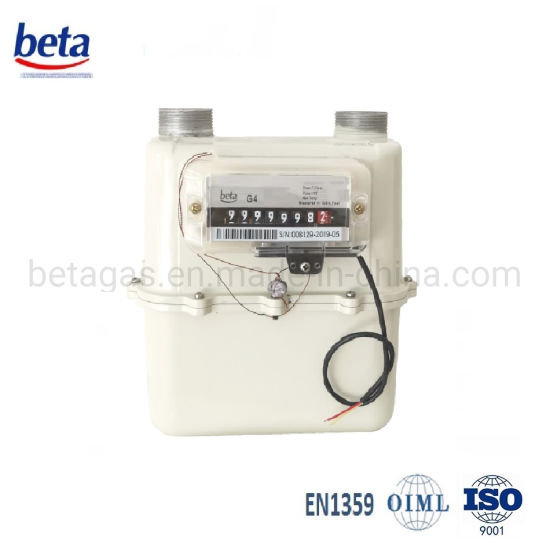 Aluminum Case Pulse Diaphragm Gas Meter pictures & photos
