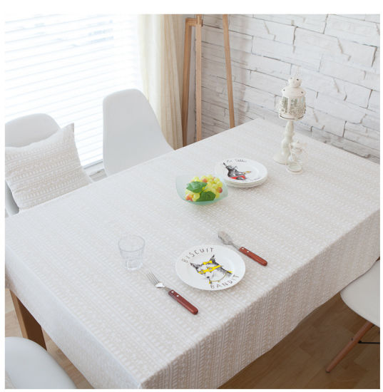 Hotel Table Linen 100% Cotton Disposable Embroidered Tablecloth