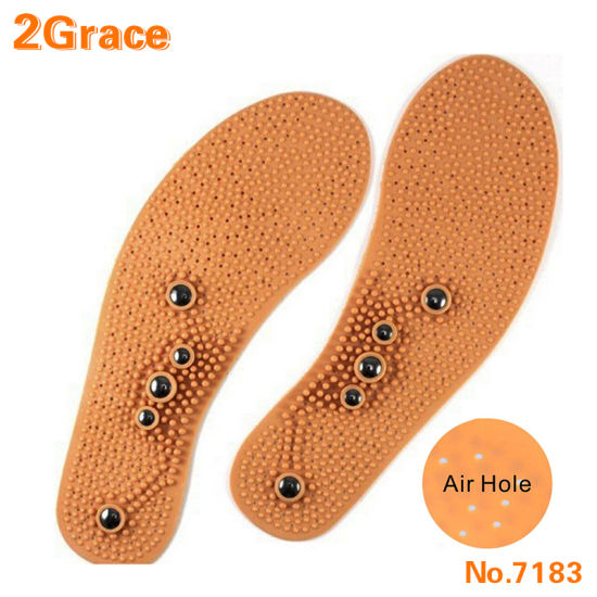 Free Cutting Foot Pain Relief Universal Sizing Therapeutic Acupuncture Magnetic Massage Insoles