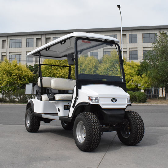 China 4 Seater Battery Operated Classic Sightseeing Hotel Electric Golf Car