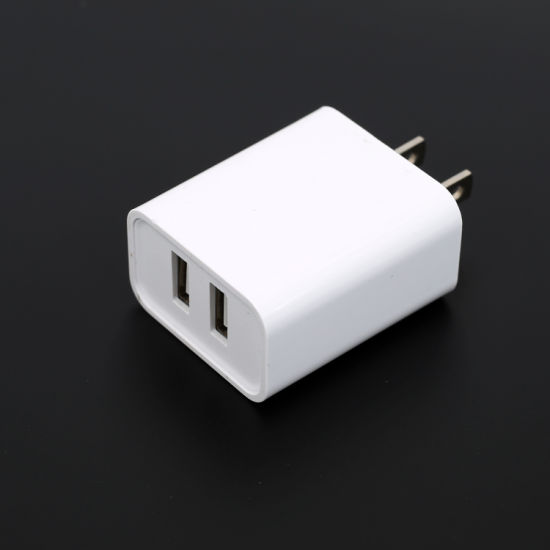 5V2.4A 2USB Charger for Us Market with ETL FCC Certificates High Quality