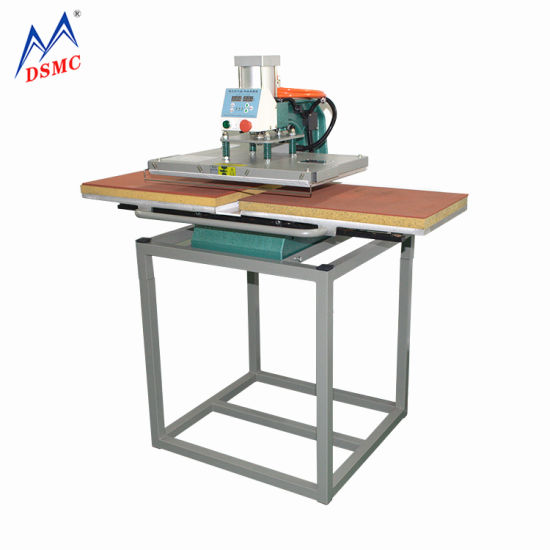 Slide Away Single Sided Pneumatic Sublimation Heat Press Machine