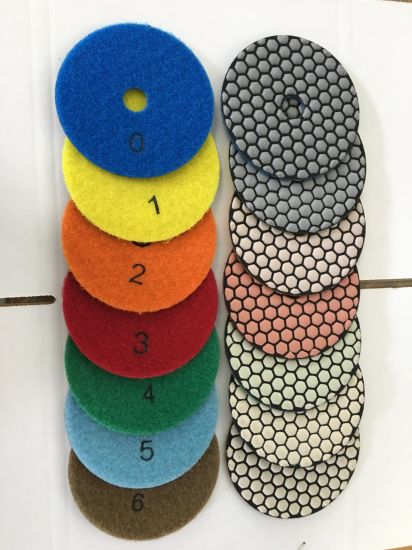 Good Quality Dry Wet Polishing Pads in 3inch 4 Inch pictures & photos