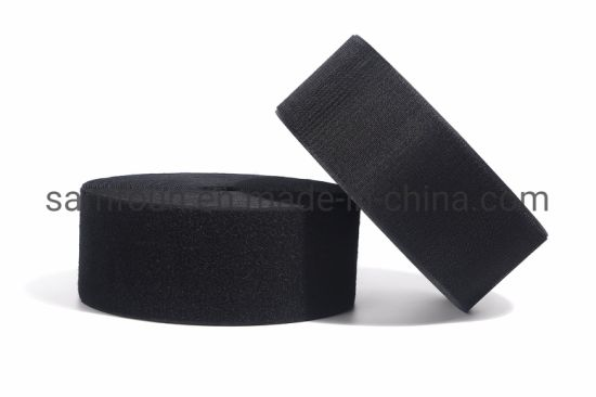 Factory Supply High Quality Black and White Nylon Hook and Loop Strip Fastener Tape