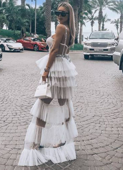 China 2019 New Style Fashion Designer Dress High End Customization Backless Long Slip Party Dress With Gauze China Dress And Fashion Dress Price