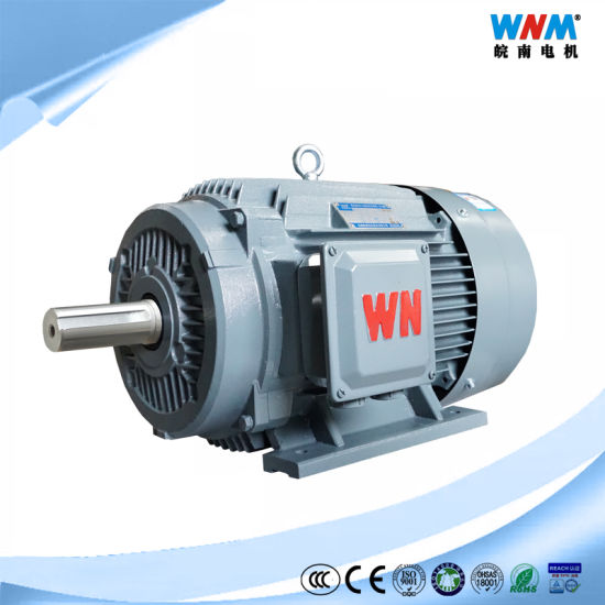 Yh2 S3 Duty IP54 High Slip Three Phase AC Electric High Starting Torque Motors 0.55~315kw for Hammering Machine Shearer Machine Yh2-90L-2 2.2kw