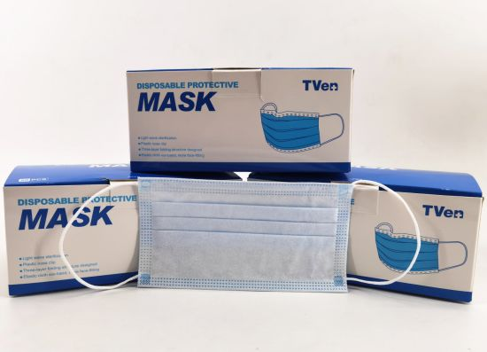Factory Directly Sell 3ply Non Woven Mask Personal Protective Breathable Face Mask in Stock