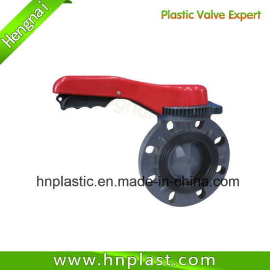Manual Wafer PVC Plastic Butterfly Valves