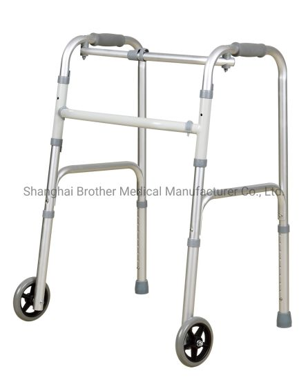 Hot Sales Folding Medical Adjustable Walker for Disabled