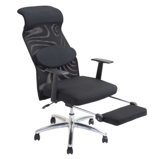 Full Mesh Type Sleeping Lounge Chair With Long Footrest For VIP Waiting Room