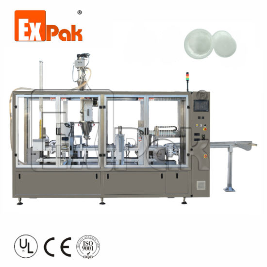 Automatic Coffee Capsule Fill and Seal Coffee 2 Head Weighting Filling Machine