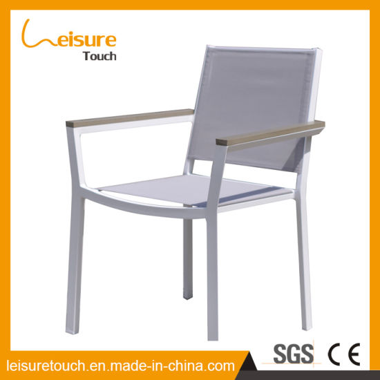 Outdoor Hotel Plastic Wood Aluminum Garden Cafe Armrest Chair Home Leisure Furniture pictures & photos